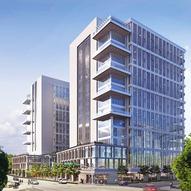 Rendering of 1001 Office Towers project