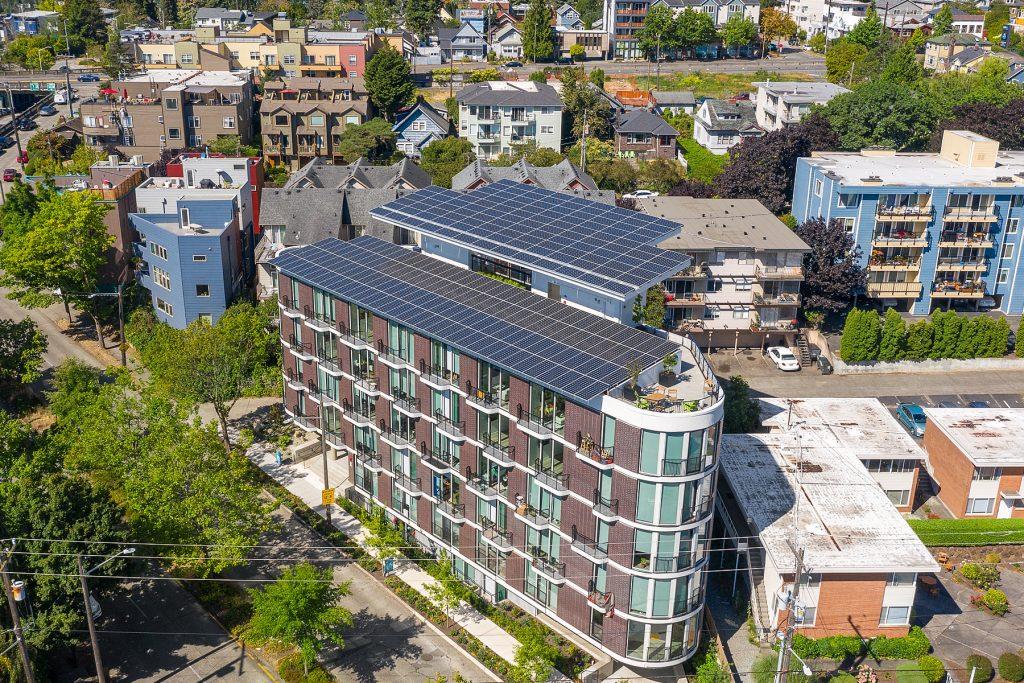 Overhead view, Inspire Apartments, Seattle, Washington